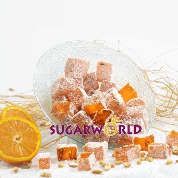 Portakal Aromalı Yer Fıstıklı Lokum