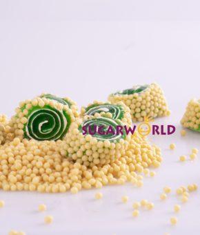 Special Kivi Aromalı Dışı Pirinç Patlak Kaplı Lokum